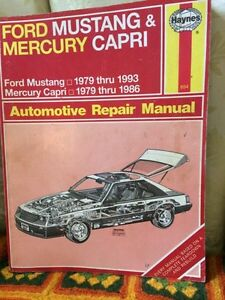 Ford Mustang @ Mercury Capri repair manual Haynes