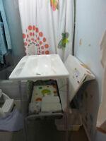 bagnoire avec table à langer ulisse-cam-mod & Port bébé BabyBjor