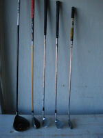 "Divers batons de golf ""Gaucher"""