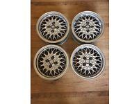 "15"" 4x100 Genuine golf BBS refurbished alloys mk1 mk2 mk3 polo Ibiza fabia fox alloy wheels"