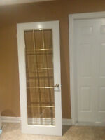 2 SETS OF GLASS FRENCH DOORS 60 INCH WITH HARDWARE