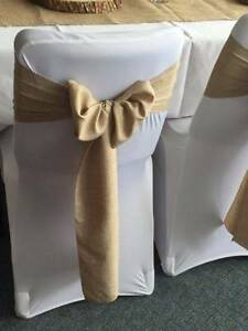 Hire Burlap Chair Sashes! Only $1 per Sash! Sydney City Inner Sydney Preview