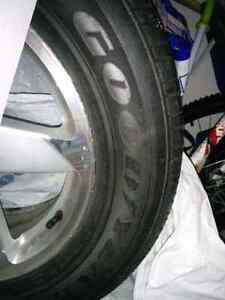 4 All season tires set on Branded alloy Rims 225 60 16 only $449
