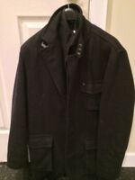 Mens Alfred Sung Peacoat Size Small