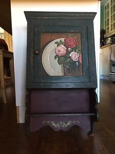 Hand-painted medicine cabinet