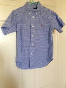 Boys 4T Ralph Lauren short sleeve button up shirt LIKE NEW!!!