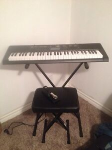 Casio CTK-2400 Keyboard and Accessories