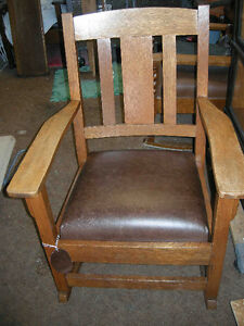 Rocking Chair With Leather Seat Buy Amp Sell Items