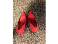 Amazing Aldo glass heels bright red pumps- size 6