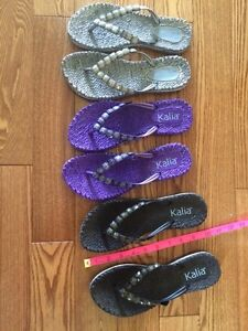 set of 3 pairs of sandals
