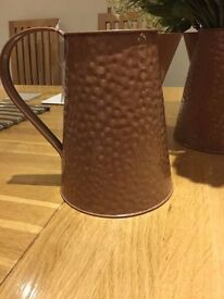 2 X Brown/ bronze colour steel jugs NEW