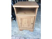 1 X wood effect bedside table