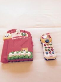 Leapfrog book and vtech tiny touch phone