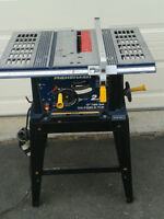 10 inch Mastercraft 2.5 horse power table saw with stand