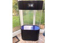 Black acrylic Colum fish tank marine tropical cold water aquarium (delivery )