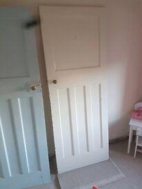 Old solid wood doors