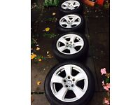 """BMW 17"""" alloys and tyres"""