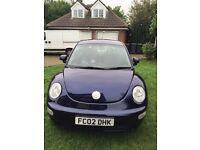 Volkswagen VW beetle blue 02 Reg 1.6 petrol