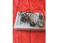 Sky white box with remote