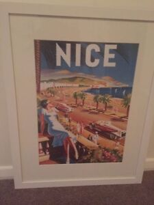 Nice French Riviera picture frame vintage style wall art Moorabbin Kingston Area Preview