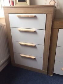 4 x drawer, white and wood melbourne brand, littlewoods / very.