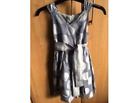 Satin grey spotty dress