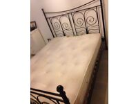 King size bed with memory foam mattress