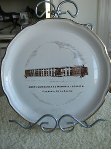COLLECTIBLE PLATE..NORTH CUMBERLAND MEMORIAL HOSPITAL PUGWASH