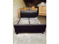 Brand New King Size Leather Bed Frame Display Model
