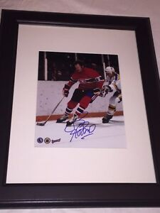 Larry Robinson Autographed Montreal Canadiens 8x10 Framed