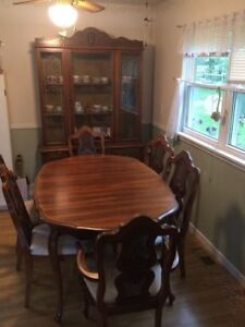 Dining Room Set - includes 6 chairs, table, and china cabinet