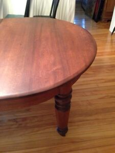 Beautiful Huge 1870s Antique Solid Walnut Dining Table Peterborough Peterborough Area image 5
