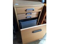 SMALL FILLING CABINET WITH DRAWS INSIDE AND FILES