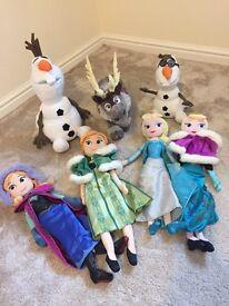 Frozen family soft toys