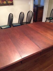Beautiful Huge 1870s Antique Solid Walnut Dining Table Peterborough Peterborough Area image 6