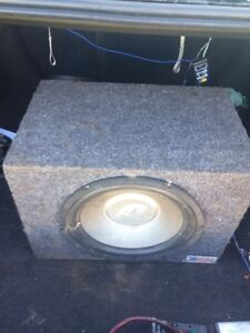 12'' Subwoofer and sub box