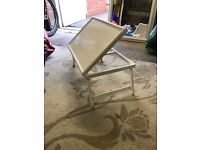 Small white table. Lap / bed adjustable drawing / reading table