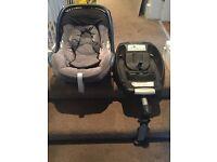 Maxi-cosi isofix car seat from birth
