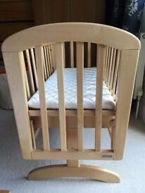 John Lewis Rocking Crib and mattress