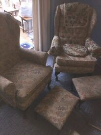 Two Wing Back Style Chairs Free Collection Only