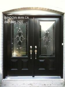 Entry Door Entrance Glass Stained  Supply Install