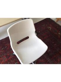 IKEA swivel office chair, white, height adjustable