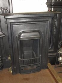 1920's Cast Iron Bedroom Fireplace