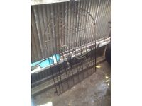 Iron gate 4ft wide 5ft tall