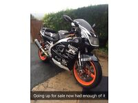 Suzuki gsxr 750 fuel injection 1998 loads of extras px against a newer bike e.g. Cbr rr or quad try