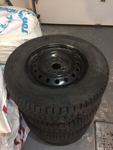FOUR WINTER TIRES WITH RIMS FOR HYUNDAI SANTA FE