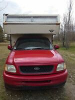 Moose hunters special! 1998 ford f150 Xlt with Edson camper