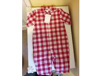 The little white company red flannel sleep suit