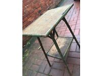 bamboo occasional table verdigris decor shabby chic REDUCED!