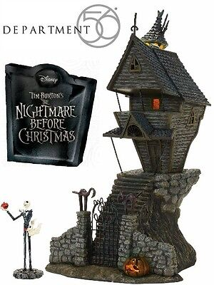 Department 56 Nightmare Before Christmas Jack Skellington's House Light Up New